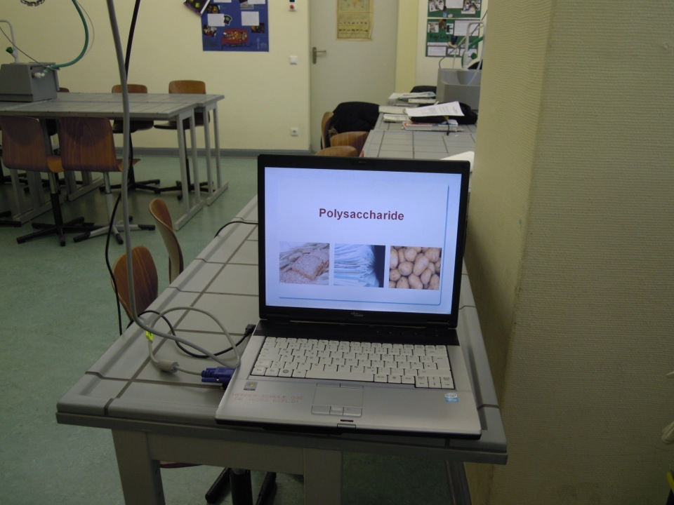 Laptop in der Chemie